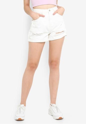 Supre white The Palm Beach Mom Shorts D7B2DAACC2E24AGS_1
