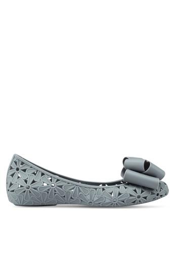 Twenty Eight Shoes 灰色 蝴蝶結雕花平底鞋 7646FSH915FA15GS_1