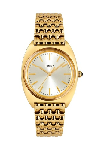 TIMEX silver and gold Timex Milano 33mm - Gold-Tone Case & Bracelet (TW2T90400) 8B388AC1FC7C46GS_1