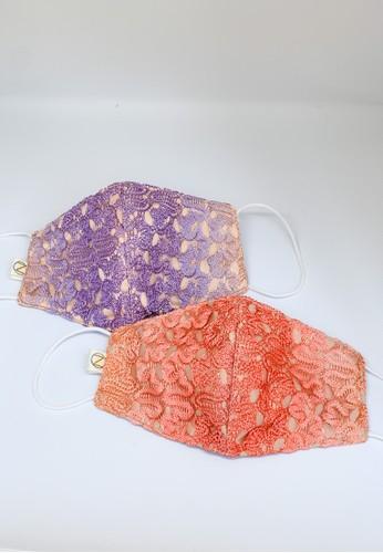 NAVVA BALI orange and purple 2 in 1 Premium Knit and Satin Mask Orange Purple Reusable and Washable 555ACESDDC4FAEGS_1
