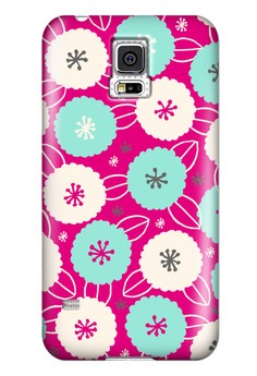 Cotton Flower All Glossy Hard Case for Samsung Galaxy S5