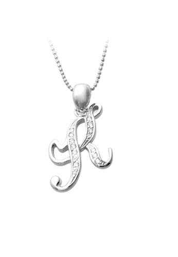 """The LoveMark silver Capital """"K"""" Necklace TH516AC65XRIPH_1"""