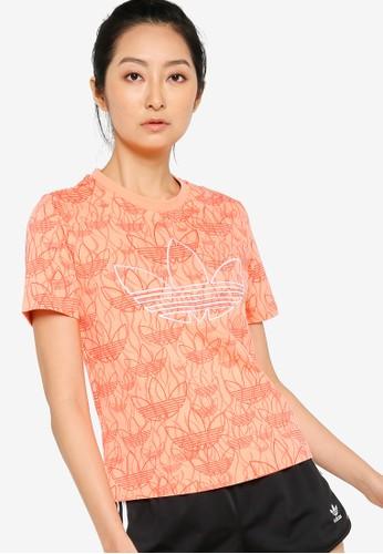 ADIDAS orange cropped t shirt 6FFBEAAEC6118EGS_1
