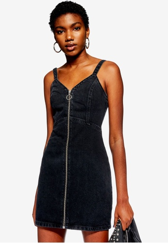90c26d33e7 Buy TOPSHOP Petite Denim Bodycon Dress Online on ZALORA Singapore