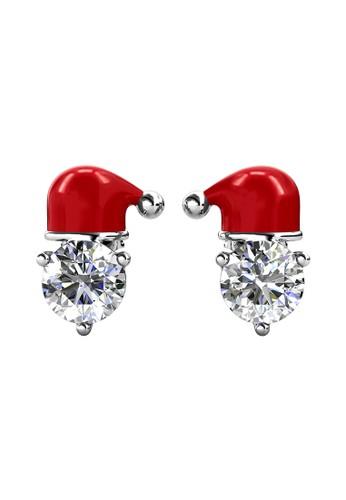 Her Jewellery silver X'mas Santa Earring WG - Anting Crystal Swarovski by Her Jewellery A7DB5ACFF215FCGS_1