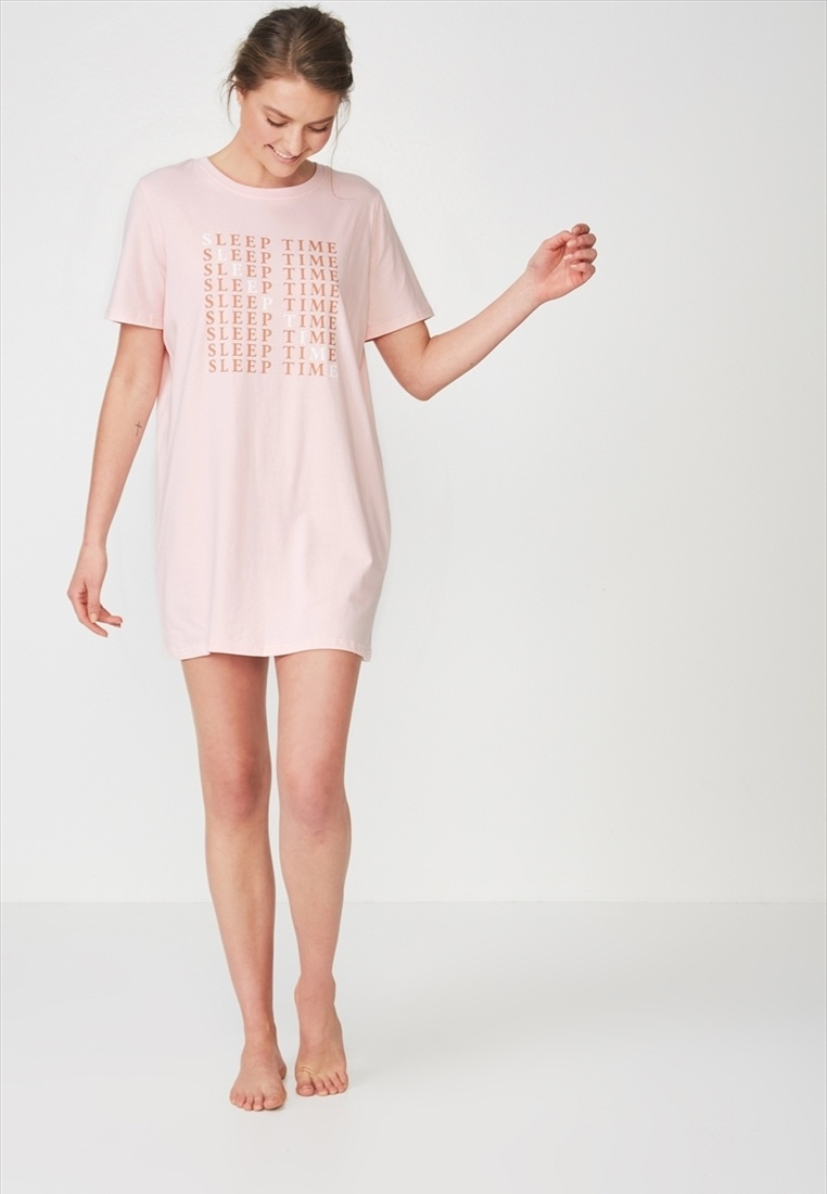 Tshirt Body Boxy Cotton On Pink Nightie qtYR85HO