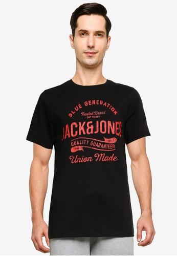 Jack & Jones black Jeanswear Short Sleeve T-Shirt D5698AAEDF0B6CGS_1