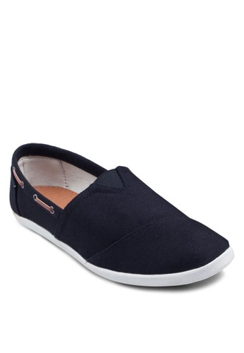 PU zalora 泳衣滾邊帆布懶人鞋, 鞋, 鞋