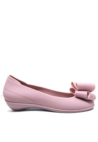 Twenty Eight Shoes 粉紅色 甜心蝴蝶結果凍膠小踭平底鞋 m071a 3158ESH4575065GS_1