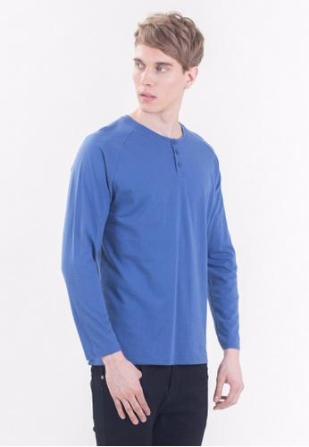Drum Long Sleeve Tee Shirt - BLU DR425AA91RIMMY_1