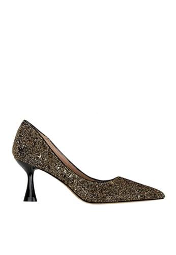 Twenty Eight Shoes 褐色 雙色閃片晚裝及新娘鞋 VP12662 D64B3SHE1CFA66GS_1