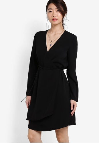 ZALORA black Collection Asymmetric Wrap Dress 480CCAAB8A20A9GS_1