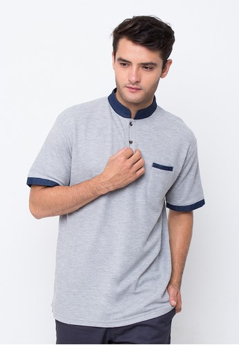 R U S S Lacher grey polo-shirt