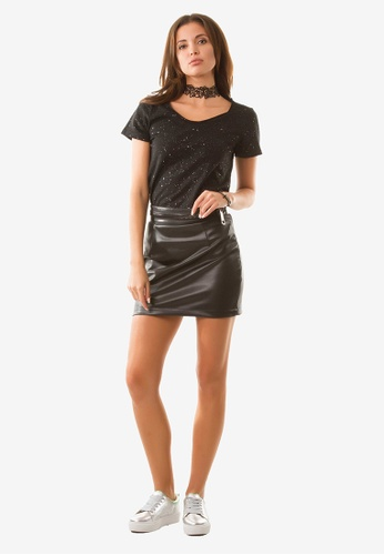 NOBASIC black Zoey Zipper Mini Skirt NO444AA0FP68SG_1