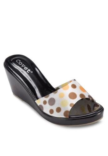 點點印花楔形涼鞋zalora 心得, 女鞋, 楔形涼鞋