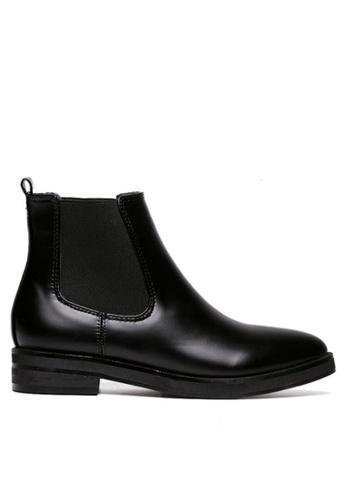 Twenty Eight Shoes 黑色 微尖頭修腳橡根短靴T169-1 DB13DSHFD9F88EGS_1