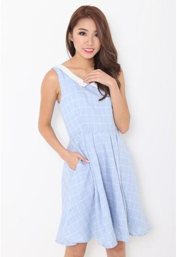 Leline Style blue Ella Pan Collar Dress LE802AA65ETMSG_1