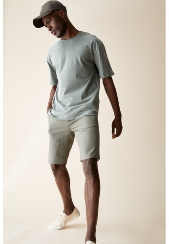 DeFacto green Regular Fit Cotton Chino Shorts FEB48AA1BF244DGS_1