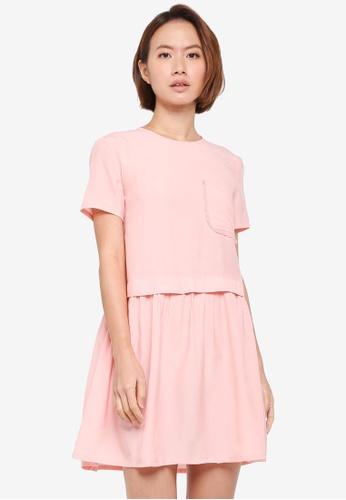 ZALORA pink Boxy Crewneck Dress CE7D9AAEAB34A2GS_1