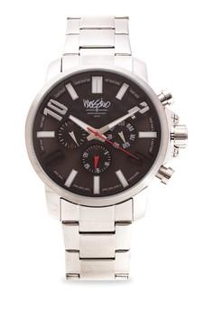 Pomona Men Stainless Steel Strap Watch MS-1610G-Blk