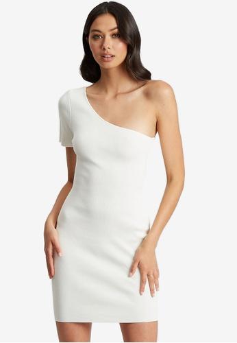 BWLDR white Clarita Knit Dress 9D230AA7BF92F6GS_1