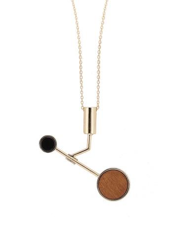 Saturation multi Got Wood Drop Necklace 91928ACA22A7B9GS_1