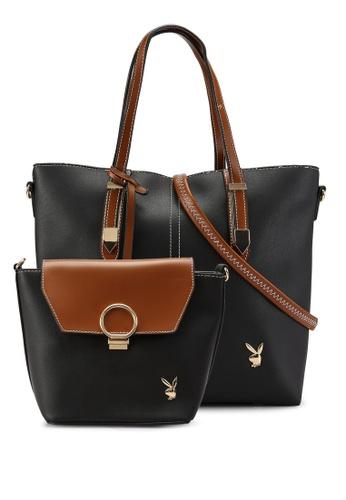 PLAYBOY BUNNY black 2 in 1 Elegance Bag E63F5ACDA61B36GS_1