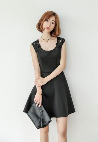 Shopsfashion black Jasmine Open Back Little Black Dress SH656AA12VMDSG_1