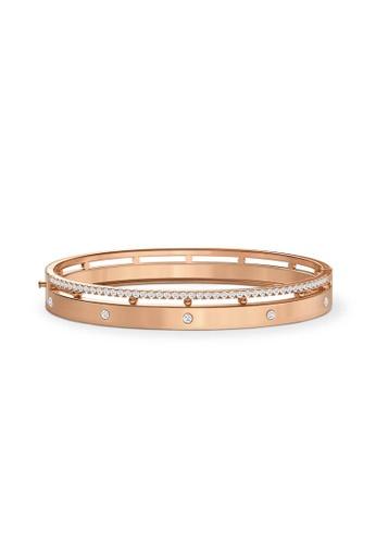 Aquae Jewels pink Bangle Rich & Bold Diamond Band 18K Gold - Rose Gold AA7D9AC5727368GS_1