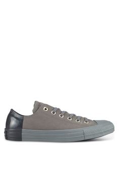 25b6e36e8b39 Converse grey Chuck Taylor All Star Ox Sneakers DC6A9SHF338B37GS 1