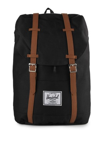 Herschel black Retreat Backpack B5761ACE893925GS_1