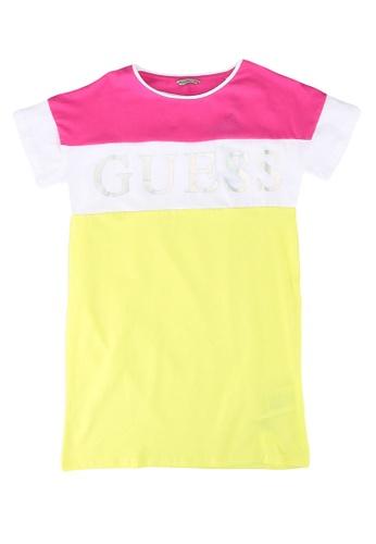Guess multi 3/4 Sleeves Dress E509CKA4B82111GS_1