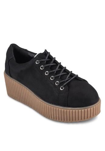 Niala 仿esprit taiwan麂皮厚底高筒靴, 女鞋, 鞋