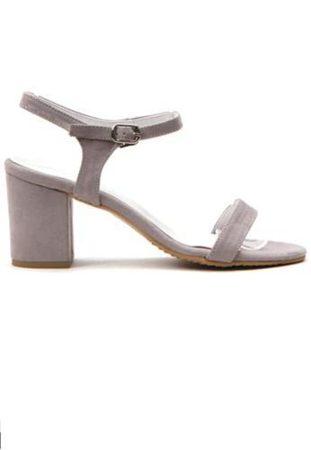 Crystal Korea Fashion grey Korean Fashion Summer Candy Color Thick Sandals 79FAFSHD08327CGS_1