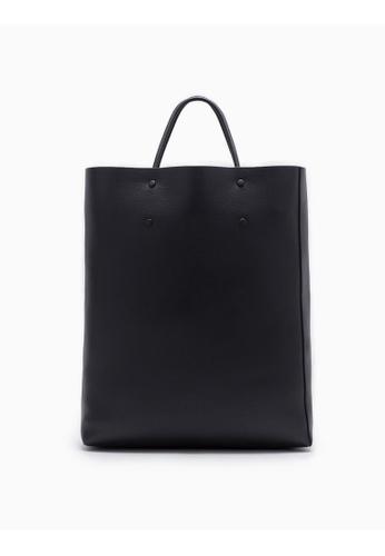 Calvin Klein black Enveloped Square Shopping Tote 2A1EEAC4A341A0GS_1