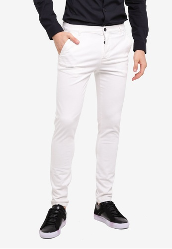 Topman white White Spray On Chino Pants BE68FAAFD20C3DGS_1