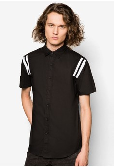 Short Sleeve Shirt With Elastic Insert