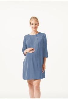 cf5153f153c Woven Three Quarter Sleeve Elly Nursing Dress Spanish Blue  80D7BAA58D4F2DGS 1