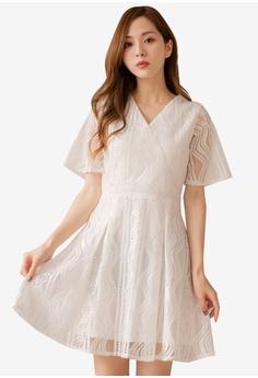 93020ddd93 Yoco white Mesh Lace Detail Bodycon Dress 6E180AAC0B5452GS 1
