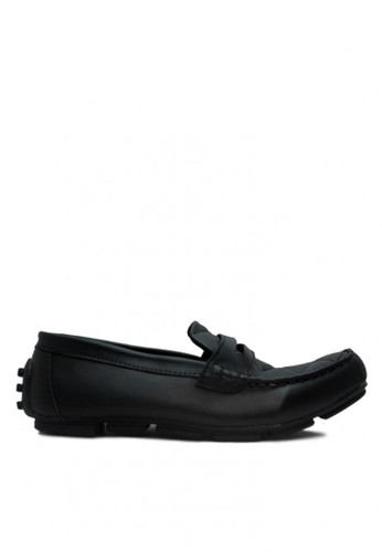 D-Island black D-Island Shoes Slip On New Driving Comfort Leather Black DI594SH06ABTID_1