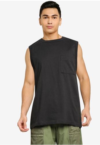 niko and ... grey Sleeveless T-Shirt 403BFAA475C0B8GS_1