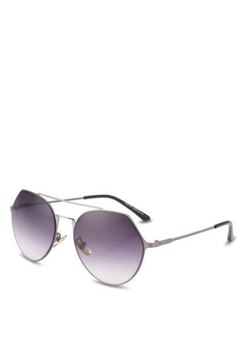 Dandelion grey Frameless Geometric Metal Sunglasses DA944GL0SO6UMY_1