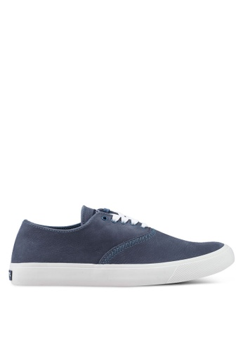 SPERRY blue Captain's Cvo Washable Leather Sneakers 36F2CSHEEA8147GS_1