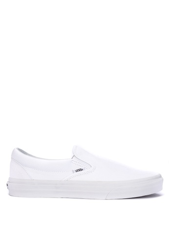 VANS white Classic Slip-On Sneakers 64B39SH4A3A2F5GS_1