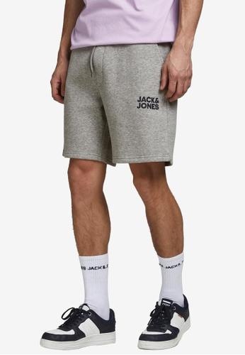 Jack & Jones grey Soft Sweat Shorts 4F99CAAB5D8942GS_1