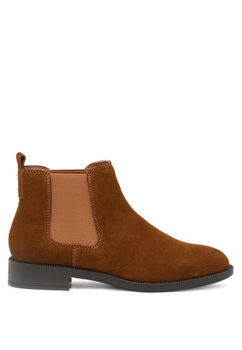RAG&CO brown Tan Leather Classic Chelsea Boots RCSH1679 AB167SHFFEB4A6GS_1