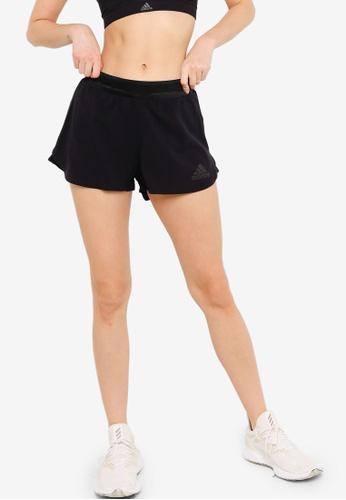 ADIDAS black heat.rdy running shorts 33508AA9DE722FGS_1