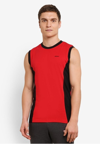 2GO red Duo Toned Sports Performance Vest 2G729AA0S60BMY_1
