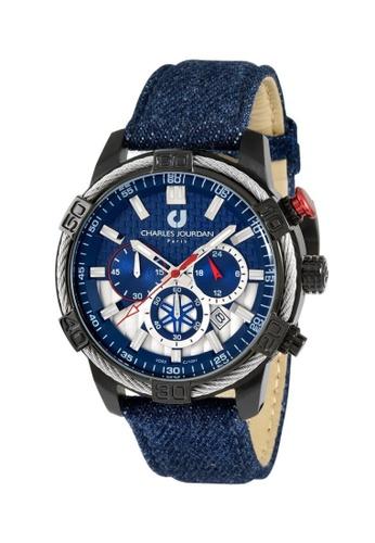 Charles Jourdan navy Charles Jourdan Men Watch Chronograph CJ1091-1782C 5997FAC4BE06C9GS_1