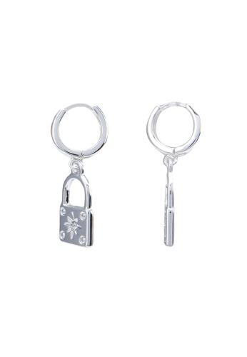 Rubi silver Premium Huggie Hoop Earrings AE3D8AC388B922GS_1